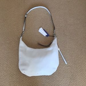Rebecca minkoff large leather white hobo bag